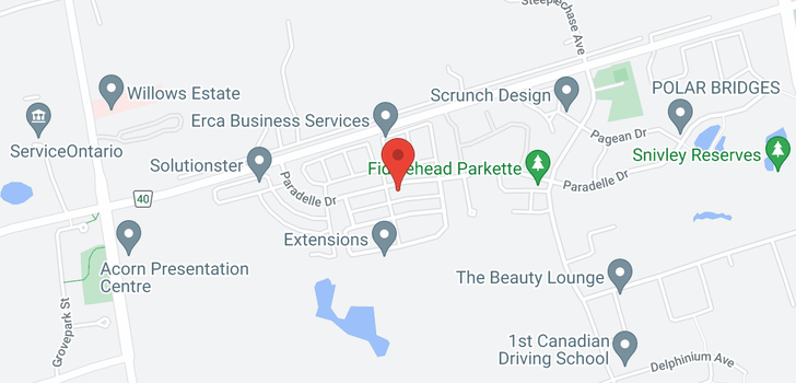 map of  227 Paradelle Dr