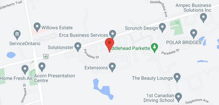 map of  218 Paradelle Dr