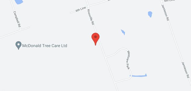 map of  5766 Knoxville Rd