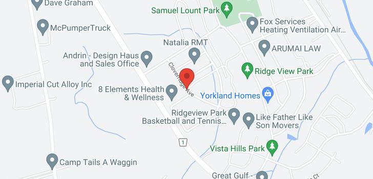 map of 22 Cloverridge Ave
