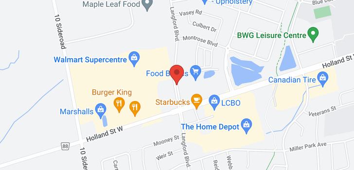 map of 751 Langford Blvd