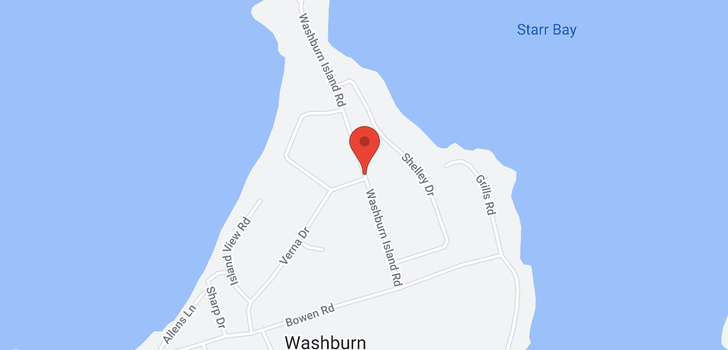 map of 261 Washburn Island Rd