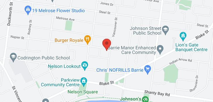 map of 201 Napier Street