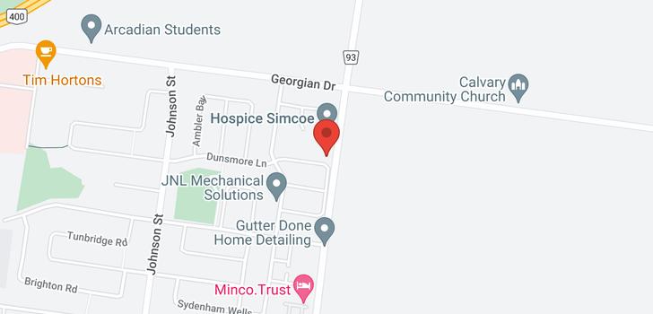 map of  386 Dunsmore Lane