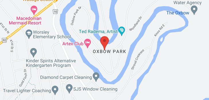 map of  424 Oxbow Park Dr