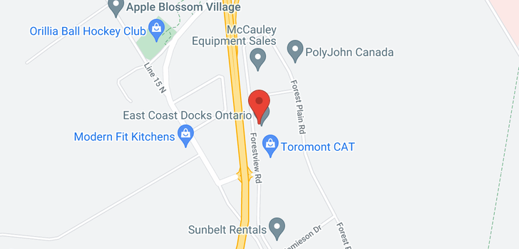 map of 115 FORESTVIEW RD