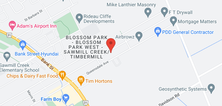 map of  1812 Kingsdale Ave