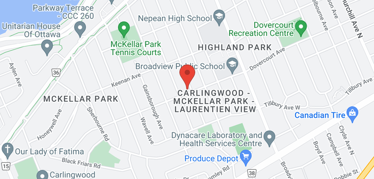 map of 640 MANSFIELD AVENUE
