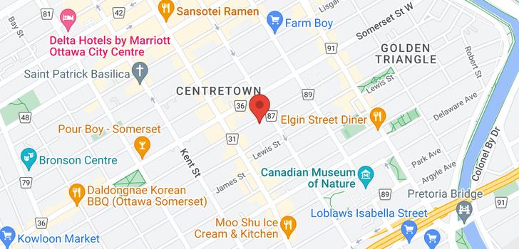 map of 334 MACLAREN STREET
