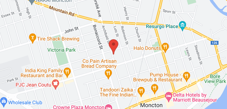 map of 155-157 Archibald ST