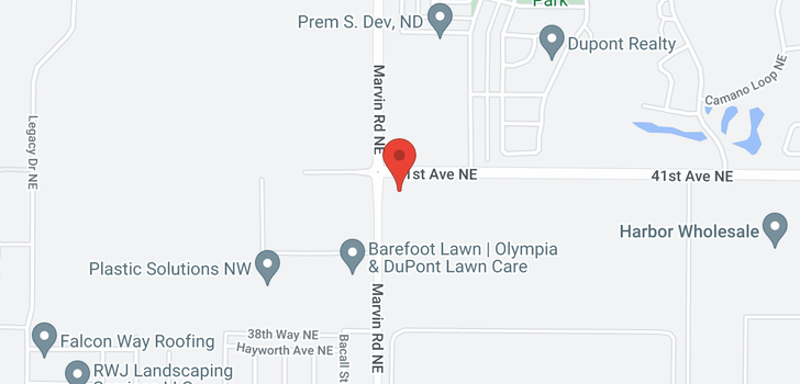 map of 3612 Andress St