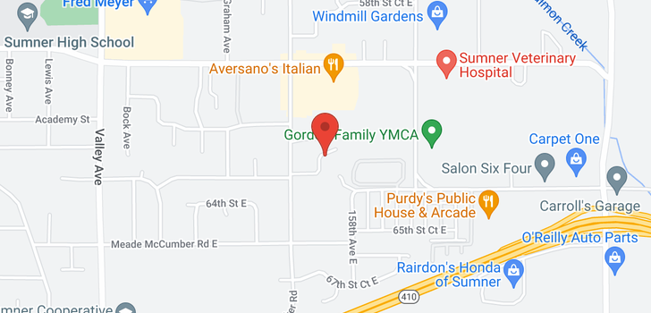 map of 6406 159th Ave