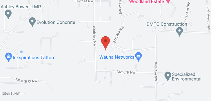 map of 13809 97th Ave