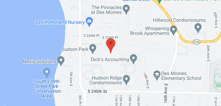 map of 1402 S 234th St