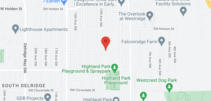 map of 7630 SW Highland Park Way