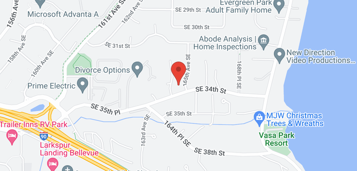 map of 3400 168th Ct