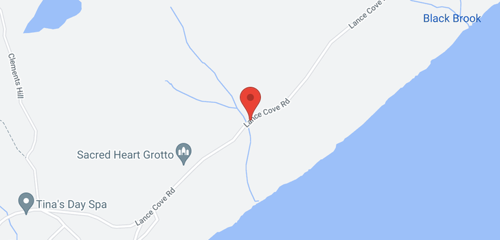 map of 0 Lance Cove Road