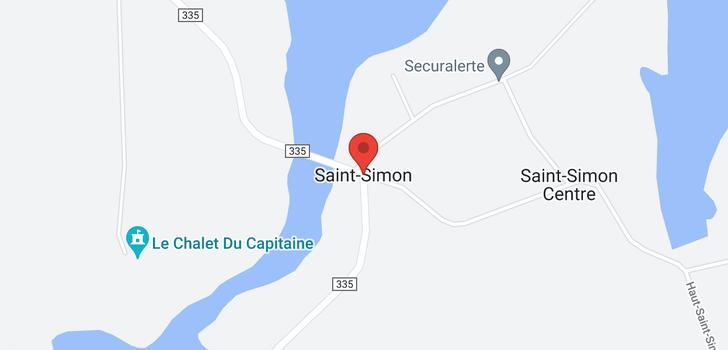 map of - St-Simon