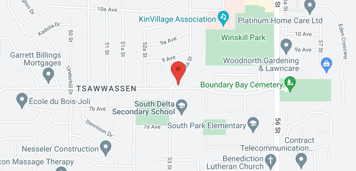 map of 5361 8A AVENUE
