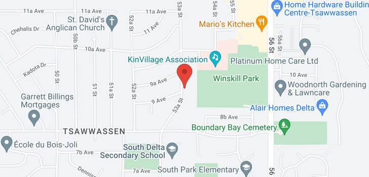 map of 950 53A STREET