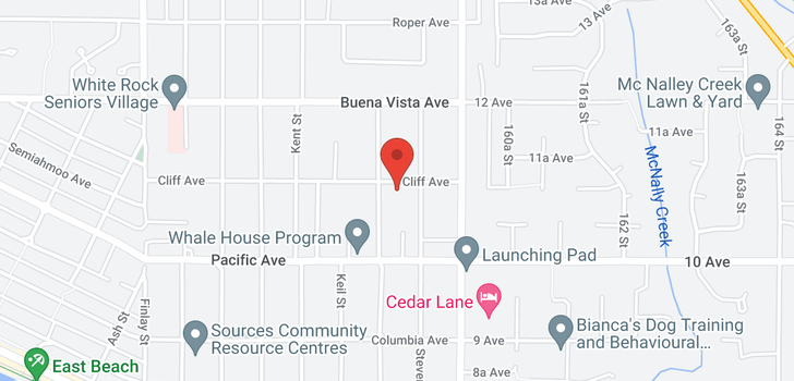 map of 15908 CLIFF AVENUE