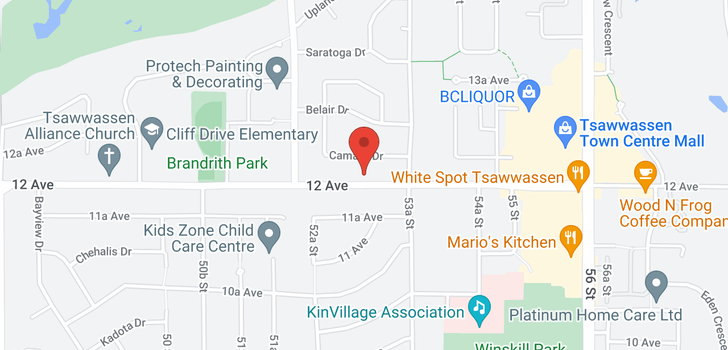 map of 5295 12 AVENUE