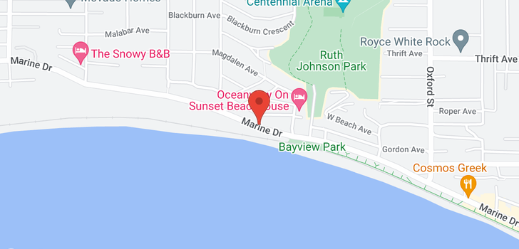 map of 14479 MARINE DRIVE