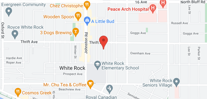 map of 301 15290 THRIFT AVENUE
