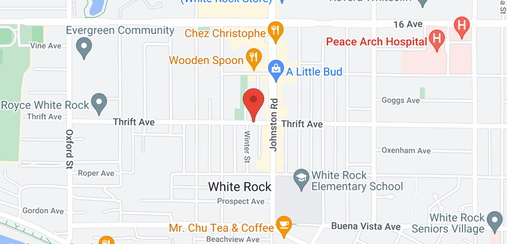 map of 403 15165 THRIFT AVENUE