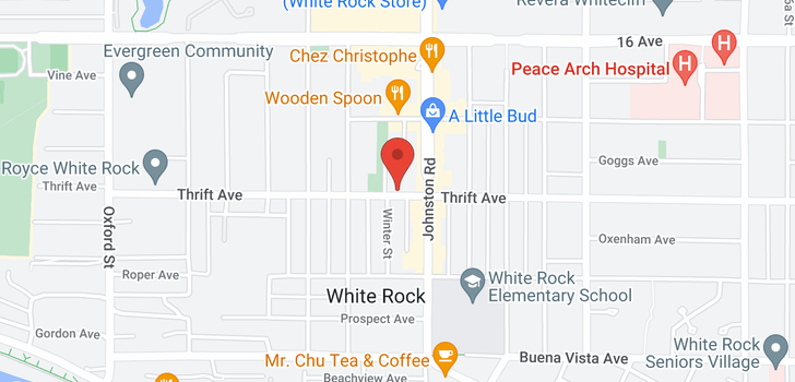 map of 1108 15165 THRIFT AVENUE