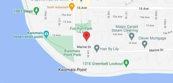 map of 1405 129 STREET