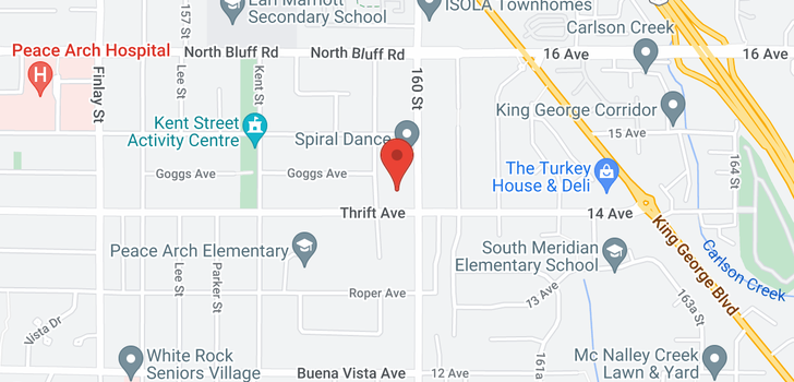 map of 304 15991 THRIFT AVENUE