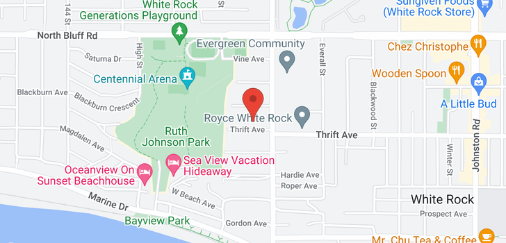 map of 14757 THRIFT AVENUE