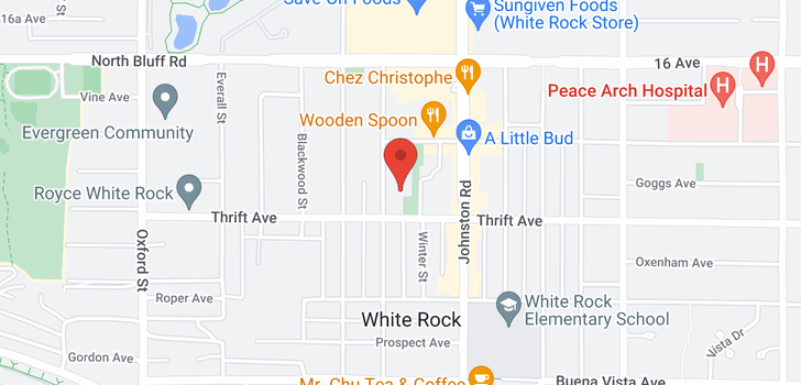 map of 113 1442 FOSTER STREET