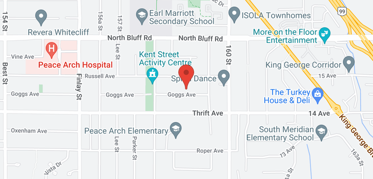 map of 15873 GOGGS AVENUE