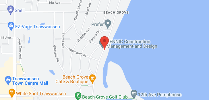 map of 1420 BEACH GROVE ROAD