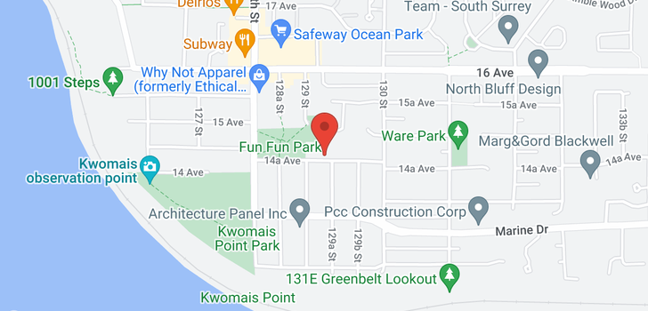map of 12905 14A AVENUE