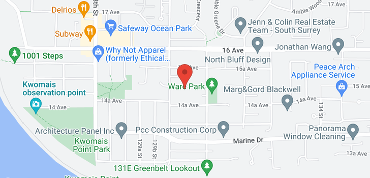 map of 13040 15TH AVENUE