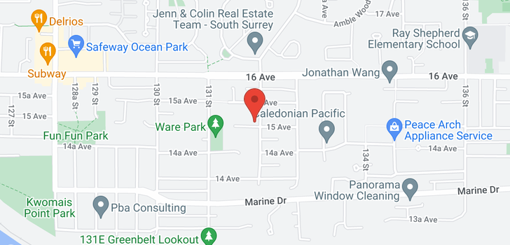 map of 13191 15 AVENUE