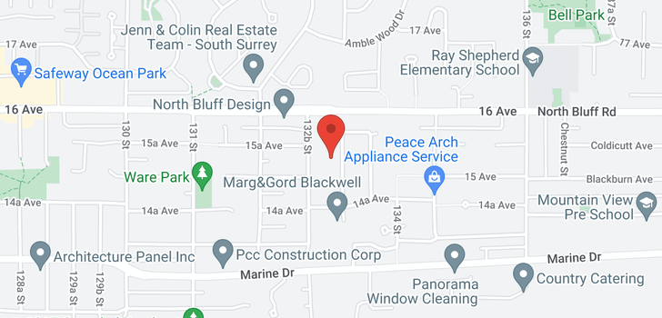 map of 1525 133A STREET