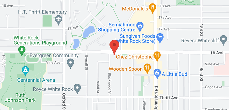 map of 310 15020 NORTH BLUFF ROAD