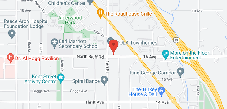 map of 16025 16 AVENUE