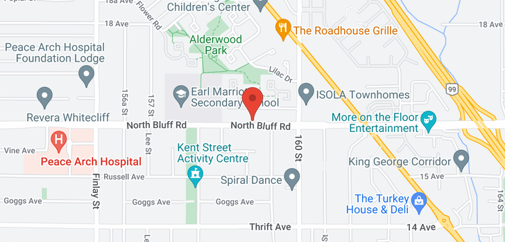 map of 15911 16 AVENUE