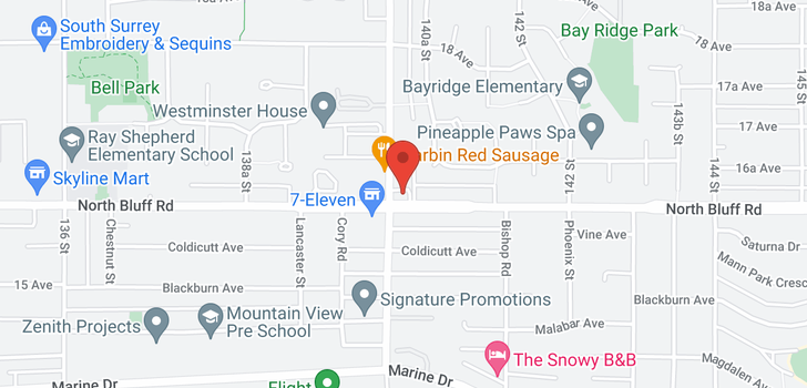 map of 2119 164A STREET