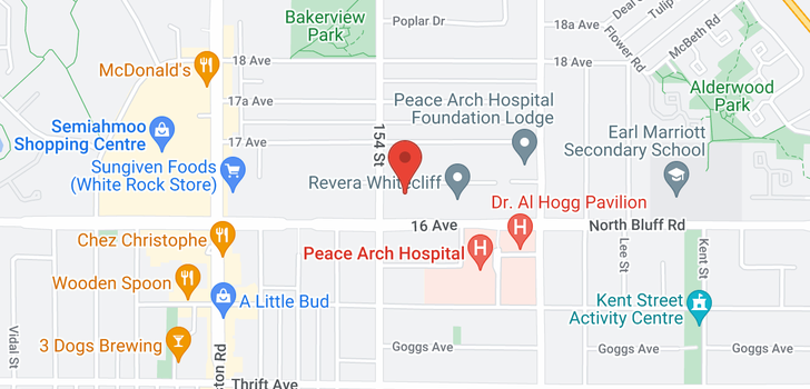 map of 21 15442 16A AVENUE