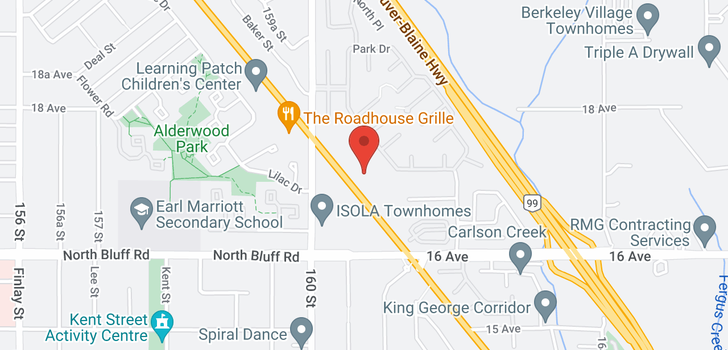 map of 1 1708 KING GEORGE BOULEVARD
