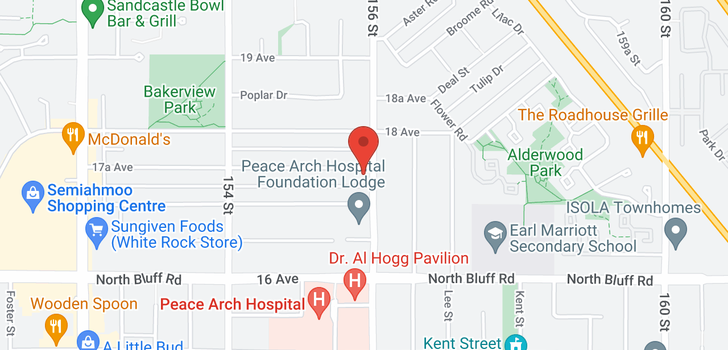 map of 15590 17A AVENUE