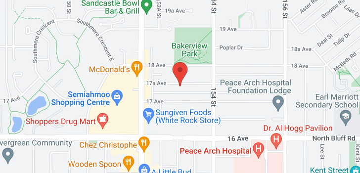 map of 104 15310 17A AVENUE