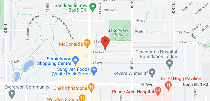 map of 404 15265 17A AVENUE
