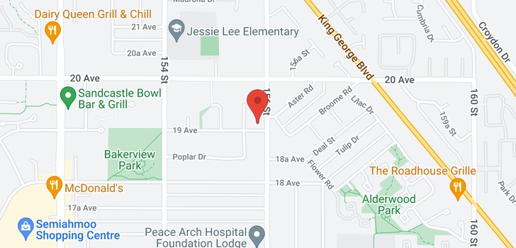 map of 168 16433 19 AVENUE